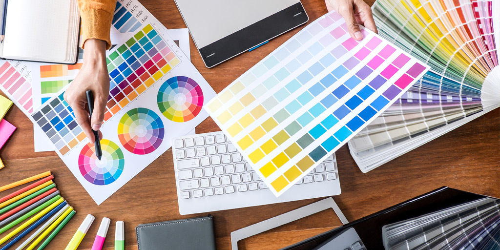 color selection for logo graphic, graphic design