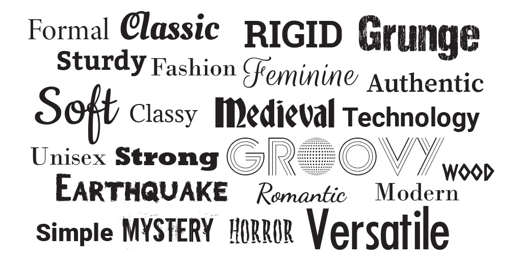 6 typeface for business, brand and logo