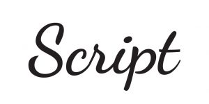 Script Typeface meaning and impression