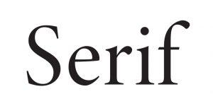 serif typeface meaning & impression