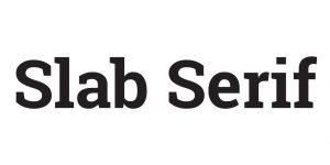 slab serif typeface meaning & impression