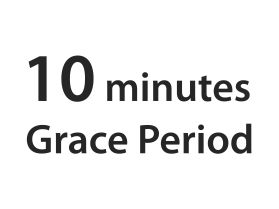10 minutes grace period sign