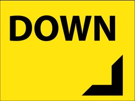 Car park down sign