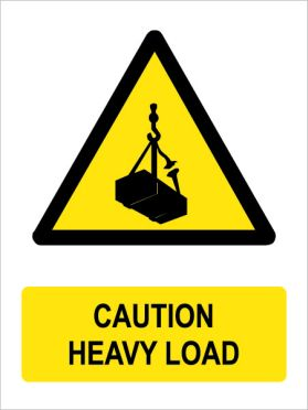 Caution heavy load sign