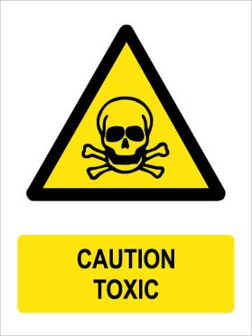 Caution toxic sign