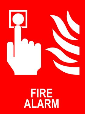 Fire alarm sign
