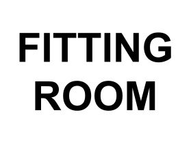 Fitting room sign