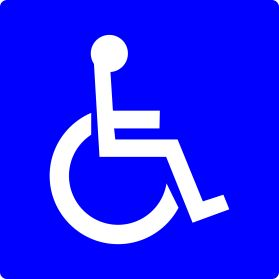 Handicap car parking lot sign