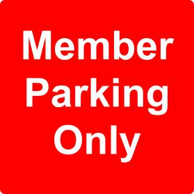 Members only parking sign
