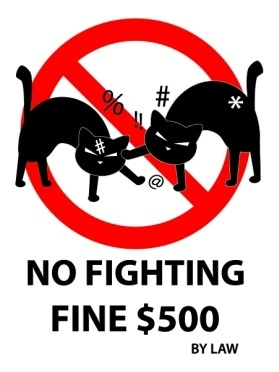 No Fighting Sign Funny signs & bill...