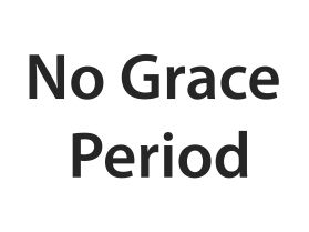 No grace period sign