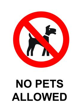 No pets allowed sign v1