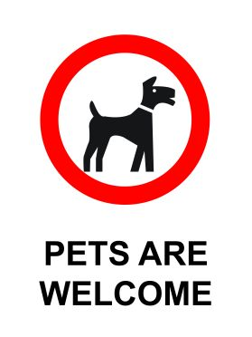 Pets welcome sign v2