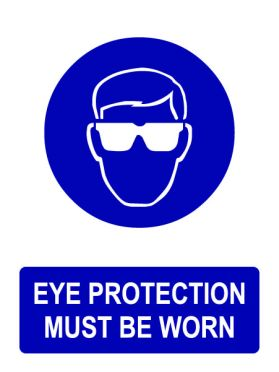 Ppe eye protection must be worn sign