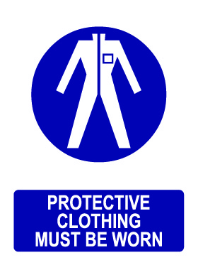 Ppe protective clothing must be worn sign