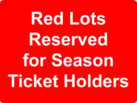 Red lots reserved for season ticket holders sign