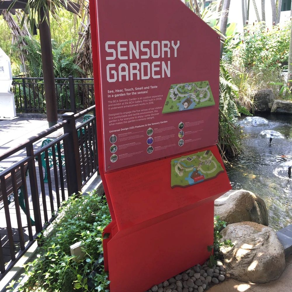BCA Sensory Garden Braille Sign by Maneki Signage