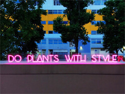 LED sign example