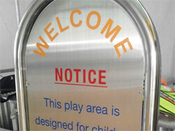 Stainless steel sign example