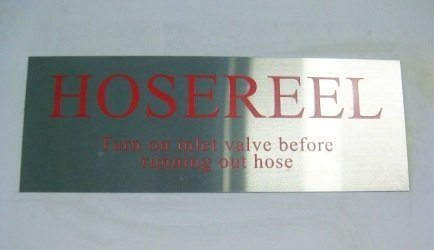 Stainless steel sign example 3